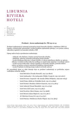 Predmet: Javno nadmetanje br. PM-25-10