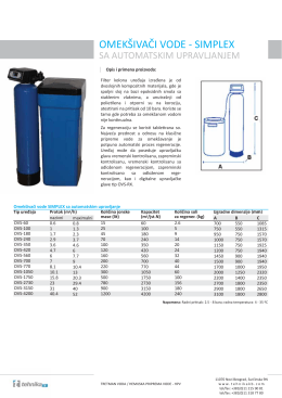 Omeksivaci vode SIMPLEX m