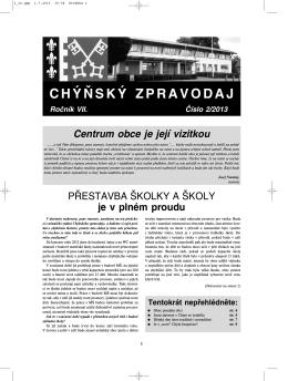 Chýňský zpravodaj 2/2013 (PDF)