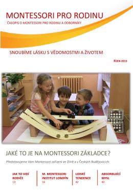 Montessori pro rodinu – říjen 2013