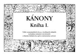 KÁNONY - Collegium pro arte antiqua