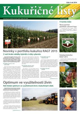 Kde hledat optimum ve využitelnosti živin z kukuřičných