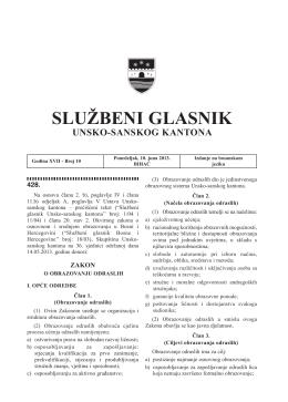 Program rada Skupštine USK-a za 2013.godinu