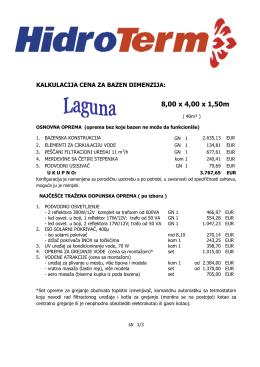 8,00 x 4,00 x 1,50m - Izgradnja Bazena Srbija