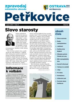 Slovo starosty - Úřad městského obvodu Petřkovice