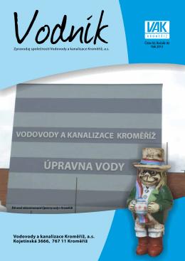 VODNÍK 2013 č.2 - Vodovody a kanalizace Kroměříž, as