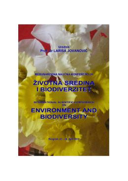 životna sredina i biodiverzitet environment and biodiversity