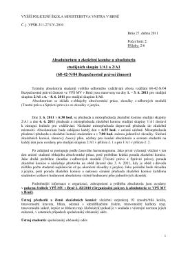 Absolutorium a zkušební komise u absolutoria
