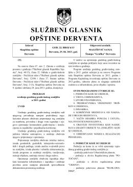 """""""Službeni glasnik opštine Derventa"""", broj : 6/13"""