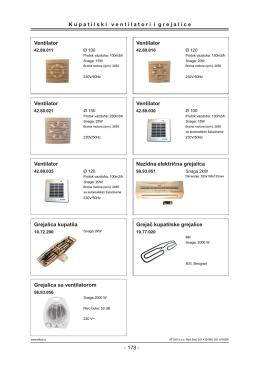 Grejalice i ventilatori za kupatila