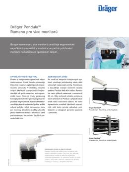 Dräger Pendula™ Rameno pro více monitorů