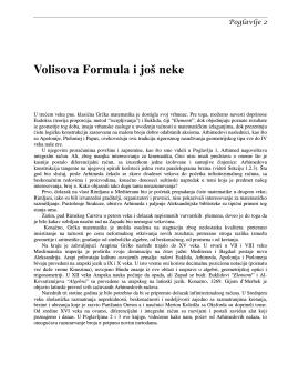 Volisova Formula i još neke