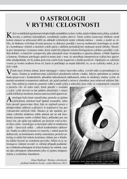 O astrologii v rytmu celostnosti