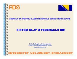 sistem uljp u federaciji bih sistem uljp u federaciji bih