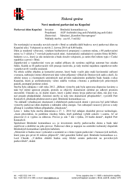 Tisková zpráva - Brněnské komunikace as
