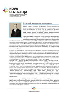 Bojan Arula,dipl. socijalni radnik - predsjednik