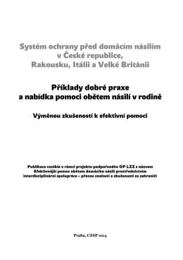 Systém ochrany před domácím násilím v České republice