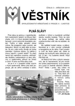 PLNÁ SLÁVY - Panny Marie Královny míru