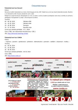 Čekatelské kurzy - Skautské vzdělávací a jiné kurzy