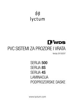 Cenovnik WDS PVC sistema za prozore i vrata
