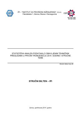 sb_26 statistička analiza podataka o obavljenim tehničkim