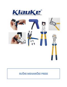 Mehaničke prese za kablove