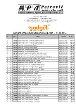 Cenovnik GADGET (01.12.2014)