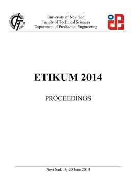ETIKUM 2014 - Universitatea Tehnică