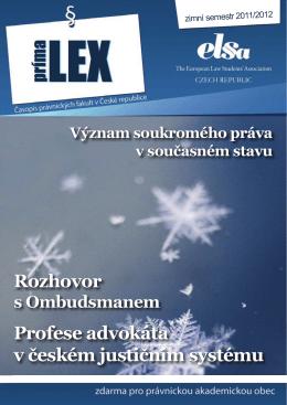 Rozhovor Profese advokáta v českém justičním systému