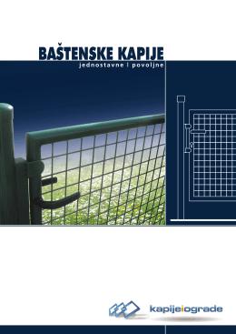 BAŠTENSKE KAPIJE - Kapije i ograde
