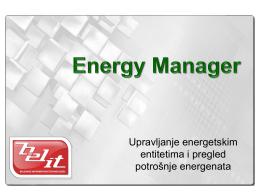 Upravljanje energetskim entitetima i pregled potrošnje