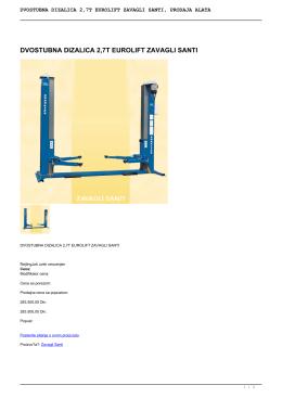 dvostubna dizalica 2,7t eurolift zavagli santi, prodaja alata