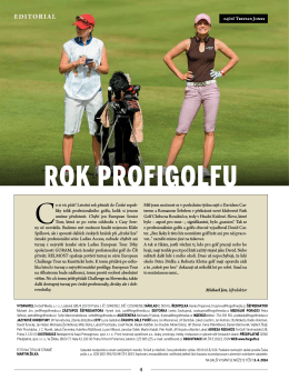 ROK PROFIGOLFU - D+D REAL Czech Masters 2014