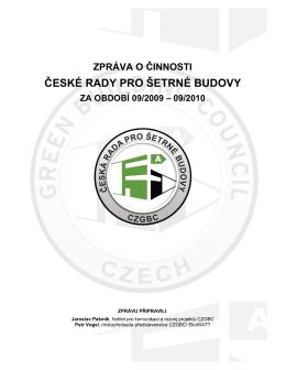Zpráva o činnosti... - Česká rada pro šetrné budovy