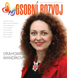 Rozhovor v magazínu Osobní rozvoj č. 2/2014