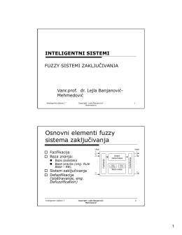 Osnovni elementi fuzzy sistema zaključivanja