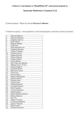 """Списък с участниците в """"ИграiPhone 4S"""", спечелили"""