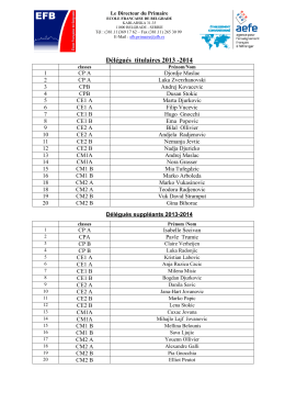 listes délégués élémentaire 2013-2014