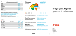 Lieferprogramm / Lagerliste Programme de livraison