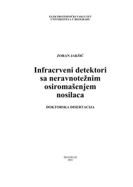 Infracrveni detektori sa neravnotežnim osiromašenjem nosilaca