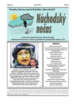 září 2013 - Náchodský nečas