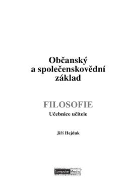 OSZ - FILOSOFIE (učebnice UČITEL)