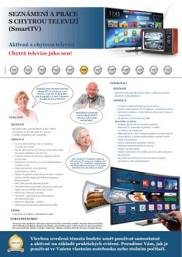 SEZNÁMENÍ A PRÁCE S CHYTROU TELEVIZÍ (SmartTV)
