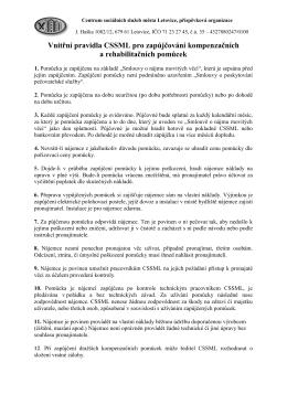 Vnitřní pravidla CSSML - Centrum sociálních služeb města Letovice