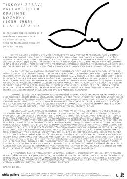 tiskOvá zpráva václav ciGler krajinné rOzvrhy (1959