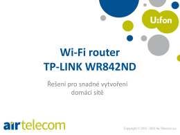 Wi-Fi router TP