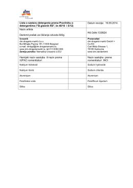 Denkmit prasak za ciscenje odvoda 600g _Lista o sastavu detegenta