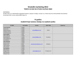 Strateški marketing 2012