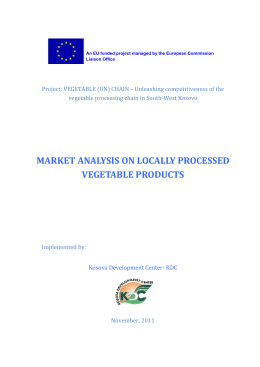 market analysis on locally processed vegetable products
