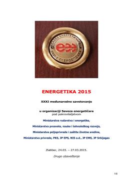 Energetika 2015 - savez energetičara